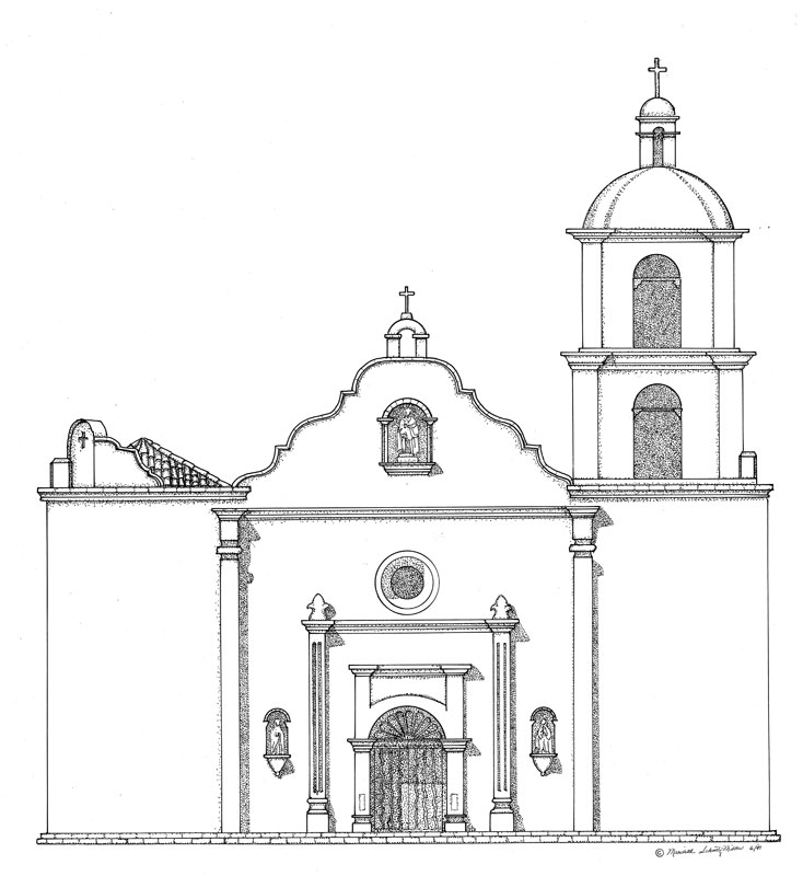 ca missions coloring pages - photo #14